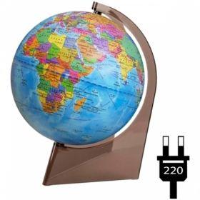 Глобус политический Глобусный мир, 21 см, с подсветкой на треугольной подставке