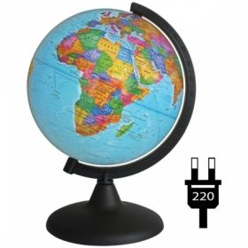 Глобус политический Глобусный мир, 25 см, с подсветкой на круглой подставке