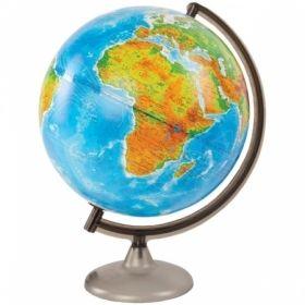 Глобус физико-политический Глобусный мир, 32 см, с подсветкой на круглой подставке