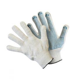 Перчатки вязаные из хлопчатобумажной пряжи с ПВХ покрытием прочные