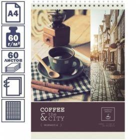 """Блокнот А4 ArtSpace """"Кофе"""" в клетку на гребне, 60 листов"""