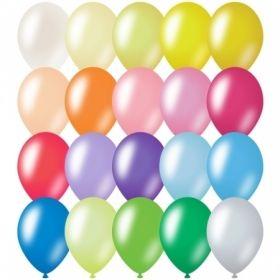Воздушные шары ArtSpace М12/30см металлик, 20 цветов ассорти, 100 шт.