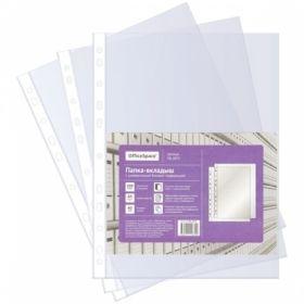 Папка-вкладыш с перфорацией OfficeSpace А4, 40 мкм, глянцевая