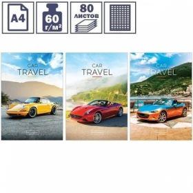 """Тетрадь А4 ArtSpace """"Авто. Car travel"""" в клетку на скрепке, 80 листов"""