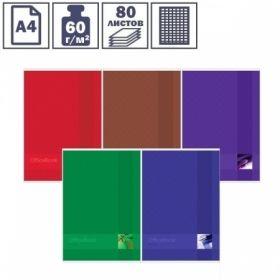 """Тетрадь А4 ArtSpace """"Моноколор. Office book"""" в клетку на скрепке, 80 листов"""