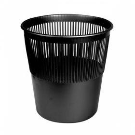 Корзина для бумаг inФОРМАТ сетчатая черный пластик 10л