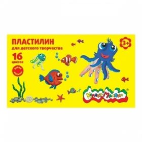 Пластилин Каляка-Маляка для детского творчества, 16 цветов