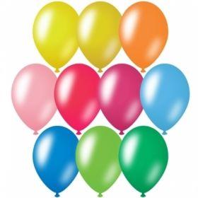 Воздушные шары ArtSpace М12/30см, металлик, 10 цветов ассорти, 50 шт