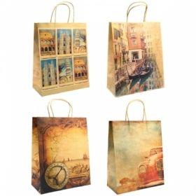 """Пакет подарочный Veld-co """"Путешествия"""", крафт, размер 26х32х10 см"""