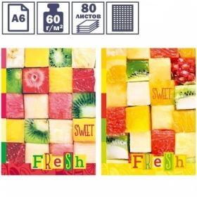 "Бизнес-блокнот А6 BG ""Sweet fresh"", 80 листов"