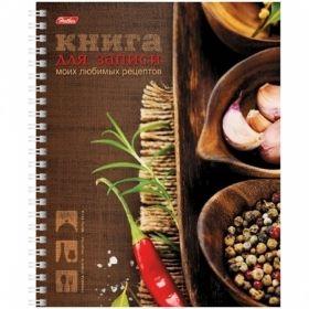 """Книга для записи рецептов А5 на спирали """"Любимые рецепты"""", 5 разделителей, 80 листов"""