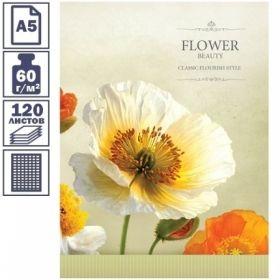 "Тетрадь на кольцах А5 ArtSpace ""FLOWERS"", 120 листов"