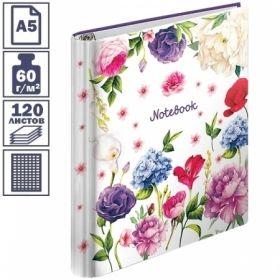 """Тетрадь на кольцах А5 ArtSpace """"Цветы"""", 120 листов"""