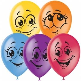 """Воздушные шары Поиск """"Улыбки"""" M12/30 см, пастель+декор, 50 шт"""
