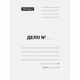 """Папка-обложка OfficeSpace """"Дело"""", картон мелованный белый, 380 г/м2"""