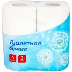 Бумага туалетная OfficeClean 2-слойная, 4 шт., белая