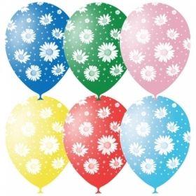 """Воздушные шары Поиск """"Ромашки"""" M12/30см, пастель+декор, 25 шт"""