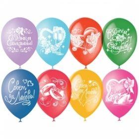 """Воздушные шары Поиск """"Свадебная тематика"""" M12/30см, пастель+декор, 50 шт"""