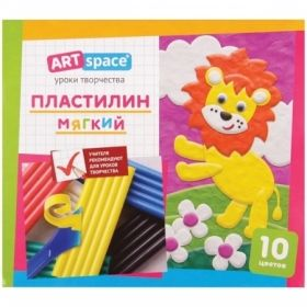 Пластилин ArtSpace 10 цветов, со стеком