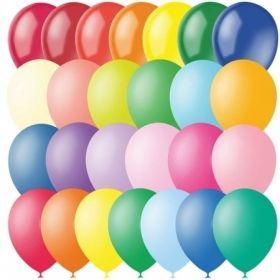 Воздушные шары Поиск М12/30см пастель+декор, 100 шт