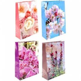 """Пакет подарочный ламинированный Veld-co """"Цветы"""", размер 38х27х10 см"""