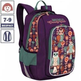 Рюкзак Grizzly 27х38х19 см, 2 отделения, 3 кармана
