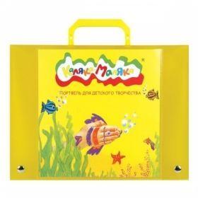 Портфель пластиковый для детского творчества Каляка-Маляка А4