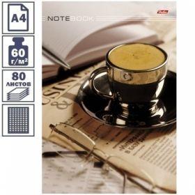 """Бизнес-блокнот А4 Hatber """"Кофе-брейк"""", 80 листов, 5-ти цветный блок"""