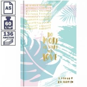 "Ежедневник недатированный 7БЦ OfficeSpace ""Palm style"" формата А5, 136 листов"