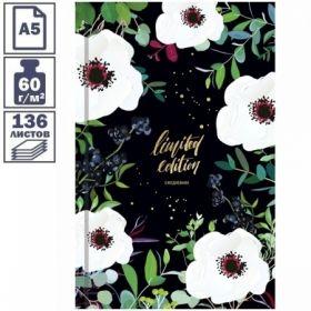 """Ежедневник недатированный 7БЦ OfficeSpace """"Цветы. Яркий мир"""" формата А5, 136 листов"""