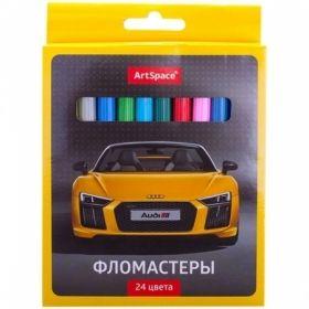 """Фломастеры смываемые ArtSpace """"Машинки"""" 24 цвета"""