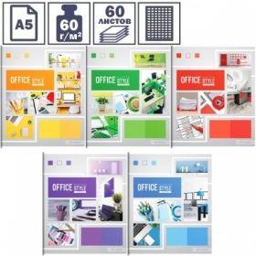 """Тетрадь А5 в клетку на скрепке ArtSpace """"Офис. Яркие краски"""", 60 листов"""