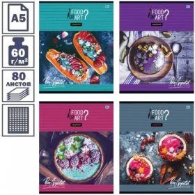 """Тетрадь А5 в клетку на скрепке BG Food&Art"""", 60 листов"""""""