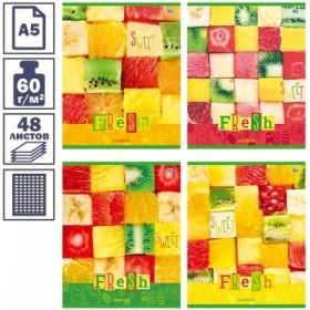 "Тетрадь А5 в клетку на скрепке BG ""Sweet fresh"", 48 листов"