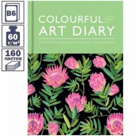 """Ежедневник недатированный 7БЦ OfficeSpace """"Flower art"""" формата B6, 160 листов"""