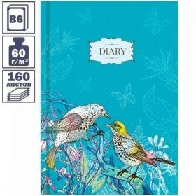 """Ежедневник недатированный 7БЦ OfficeSpace """"Цветы. Birds in flowers"""" формата B6, 160 листов"""