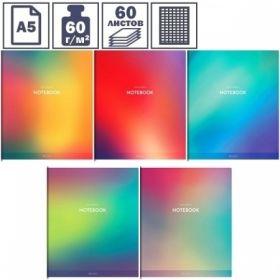 """Тетрадь А5 в клетку на скрепке ArtSpace Моноколор. Soft design"""", 60 листов"""""""