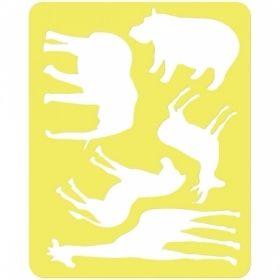 """Трафарет-раскраска контурный Стамм """"Животные Африки"""""""
