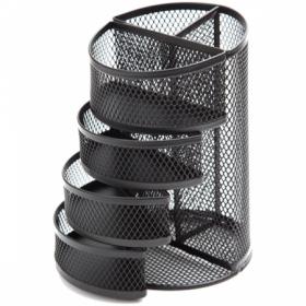 """Настольная подставка Berlingo """"Steel Style"""" металлическая, 6 секций, черная"""