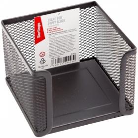 """Подставка для бумажного блока Berlingo """"Steel Style"""" металлическая, черная"""