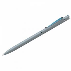 """Ручка шариковая Berlingo """"Golden Classic"""", корпус серый/хром, в пластиковом футляре"""