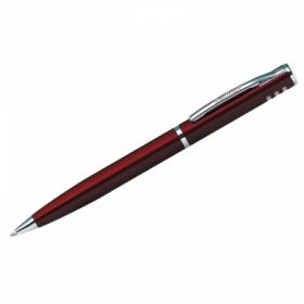 """Ручка шариковая Berlingo """"Silver Standard"""", корпус бордо, в пластиковом футляре"""