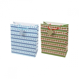 """Пакет подарочный ламинированный """"Полоски. Времена года"""", размер L, в ассортименте"""