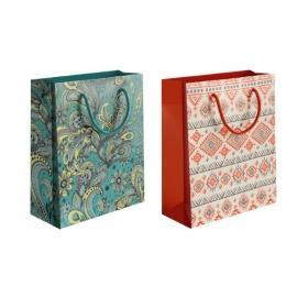 """Пакет подарочный ламинированный """"Полоски"""", размер XL, 3 дизайна"""