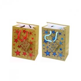 """Пакет подарочный ламинированный """"Звезды"""", размер S, 2 дизайна"""