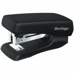 Мини-степлер Berlingo №24/6, 26/6 до 20 листов, черный