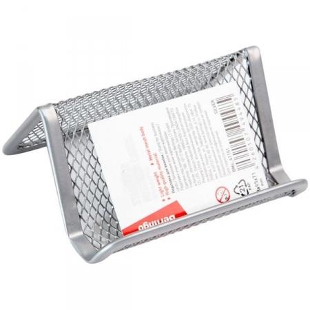 """Подставка для визиток настольная Berlingo """"Steel Style"""" металлическая, в ассортименте"""