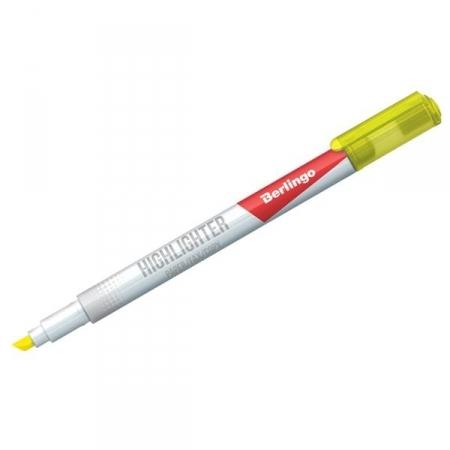 """Текстовыделитель Berlingo """"Slim"""" желтый 0,5-4 мм, в ассортименте"""