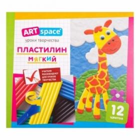 Пластилин ArtSpace 12 цветов, со стеком
