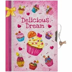 """Записная книжка 7БЦ B6 ArtSpace """"Cupcake"""" с замком, 64 листа"""